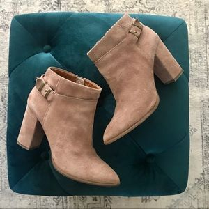 Seychelles Taupe Suede Bootie